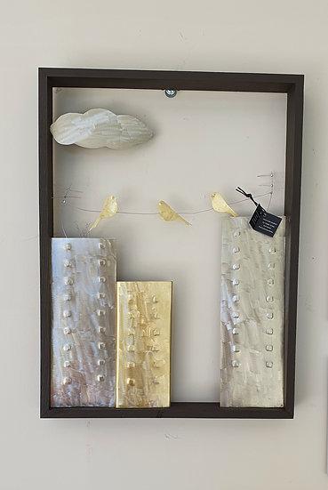 """Art & Gift χειροποίητος πίνακας """"Πολυκατοικίες"""""""