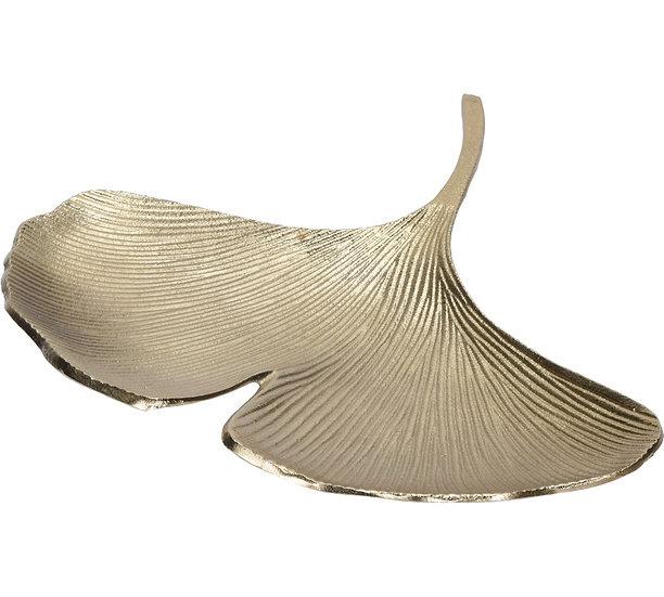 Μπολ σχ.φύλλο Gingko, αλουμίνιο χρυσό,37cm | ZAROS
