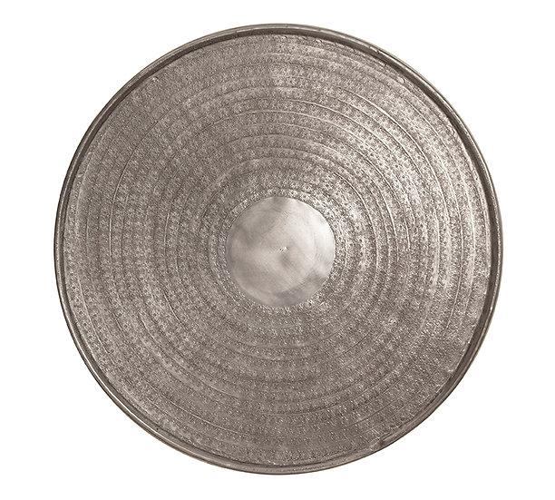 Σφυρήλατος δίσκος αλουμινίου, ματ ασημί,48cm | ZAROS