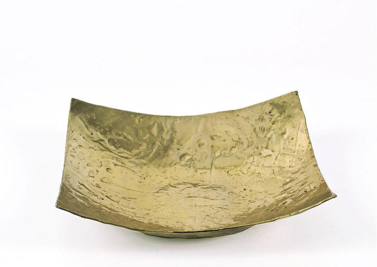 Σφυρήλατη Πιατέλα Αλουμινίου Χρυσή (S)   ZAROS