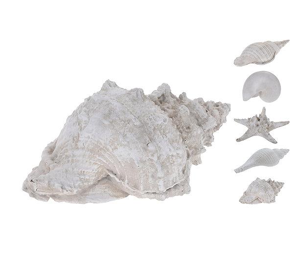 Διακοσμητικά κοχύλια πολυρέζιν 4σχ.,22cm | ZAROS