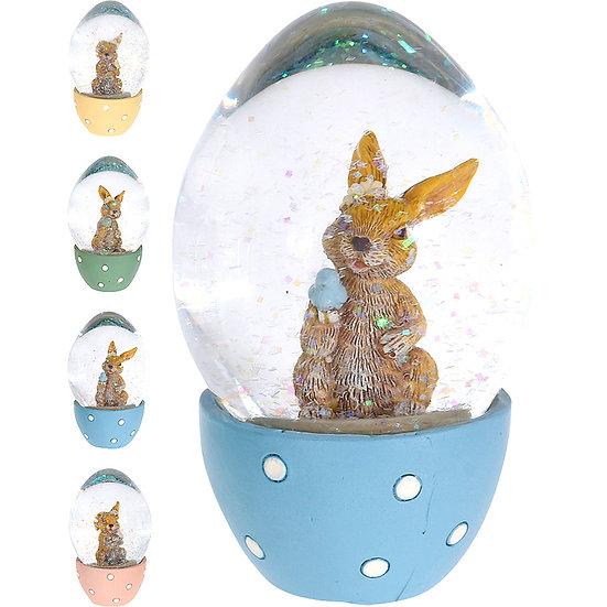Χιονόμπαλα αυγό με λαγουδάκι