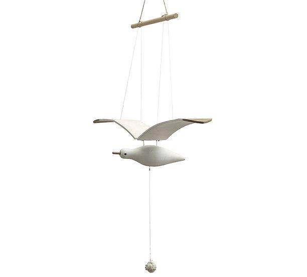Κρεμαστός διακοσμητικός γλάρος με κίνηση, 84cm   ZAROS