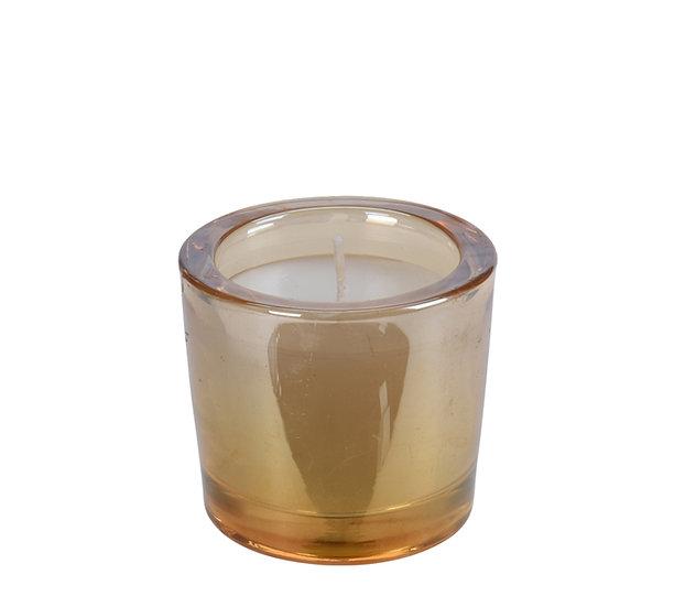 Κερί σε γυαλινο ποτήρι μελί χρ.7x6cm | ZAROS