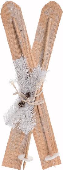 Ξύλινα Ξύλινα διακοσμητικά πέδιλα σκι, 80cm | ZAROSπέδιλα σκι, 80cm | ZAROS