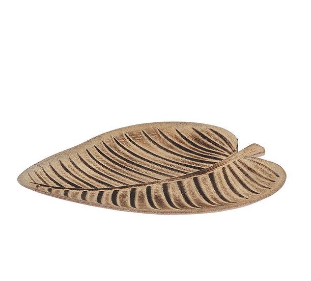 Ξύλινη πιατέλα,σε 2 σχ.φύλλα, 30-32cm | ZAROS