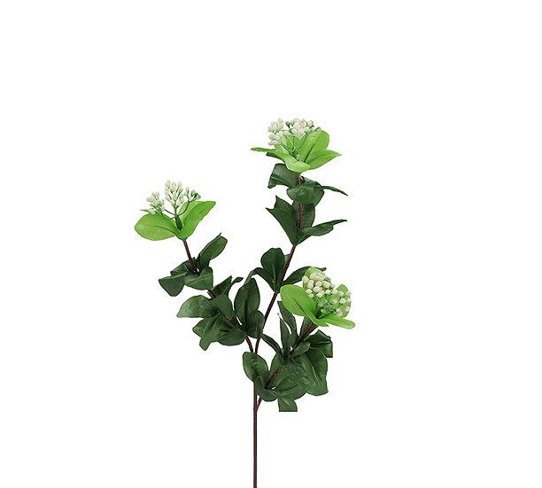 Κλαδί βιβούρνο, λευκά άνθη,56cm | ZAROS