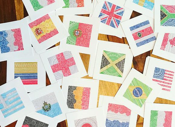 Mandala Flag Prints - Multiple Countries
