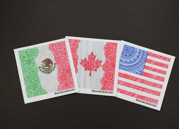 North American Stickers