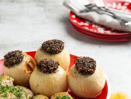 Quinoa stuffed onions recipe