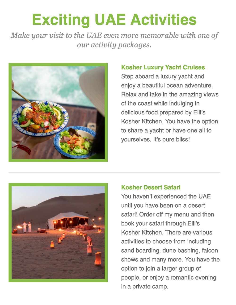 Ellis Kosher Kitchen February Newsletter