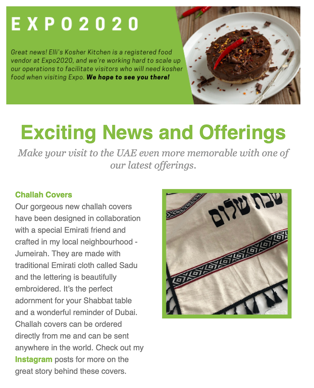 Ellis Kosher Kitchen March Newsletter