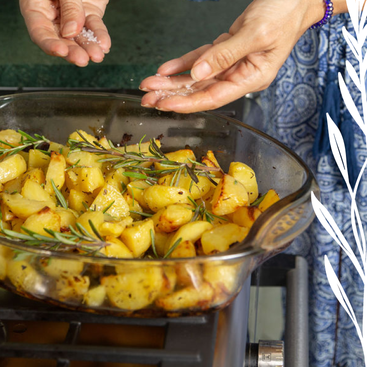 Crispy, Lemony Oven Roasted Potatoes