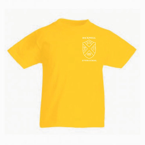 Fruit of the Loom T-Shirt Yellow (Sycamore) (BJS)