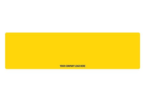 Logoed Standard Yellow Reflective 50 Pack