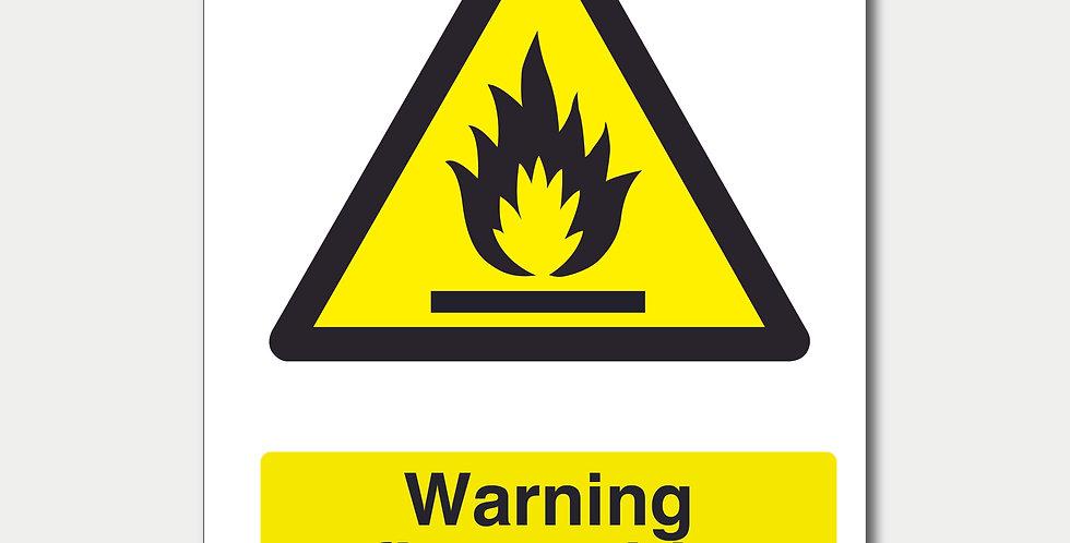 Warning Flammable Materials