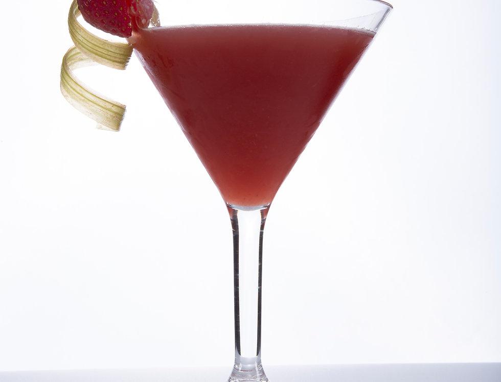 Strawberry & Rhubarb Martini