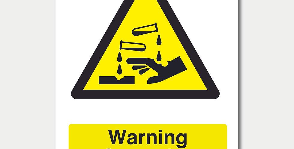 Warning Corrosive Substances