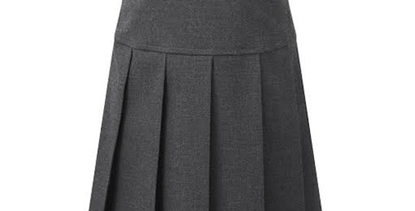 Girls Grey Skirt Pleated Wldl977
