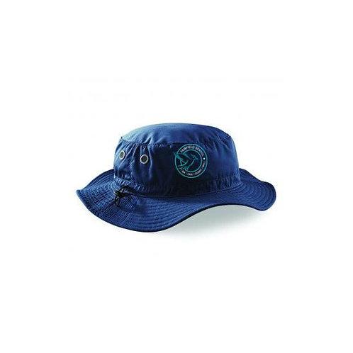Navy Sun Hat Embroidered (FFBB88)