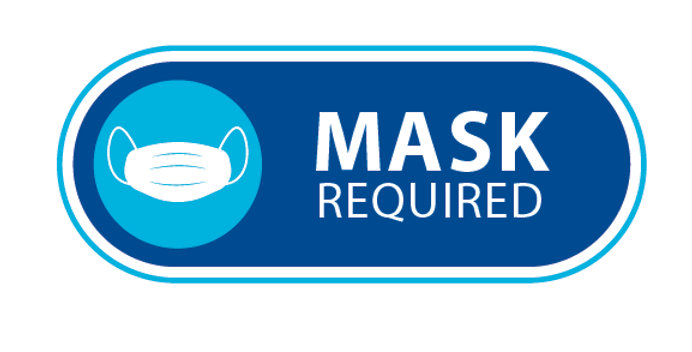 Mask Required Sticker  (5 Pack)