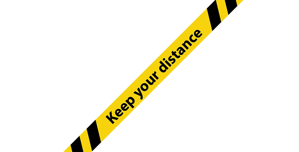 Keep your distance Anti Slip Floor Strips (10 Pack)