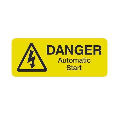 Danger Auto Start Labels