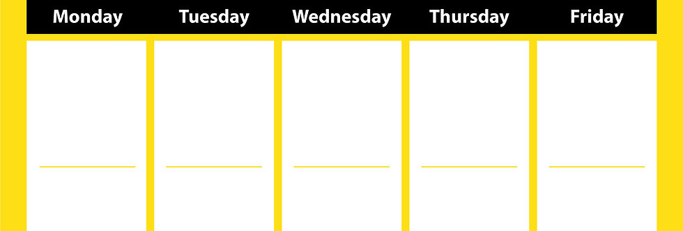 Weekly Learning Planner