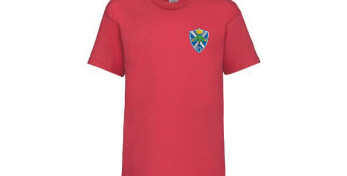 Fruit of the Loom T-Shirt Red (Willow) (BF)