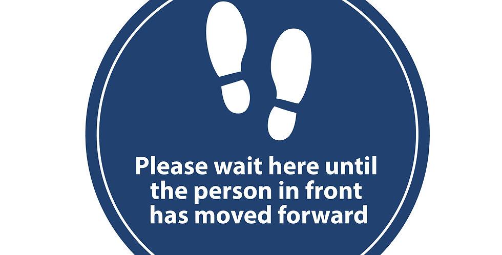2m Distancing Floor Sign