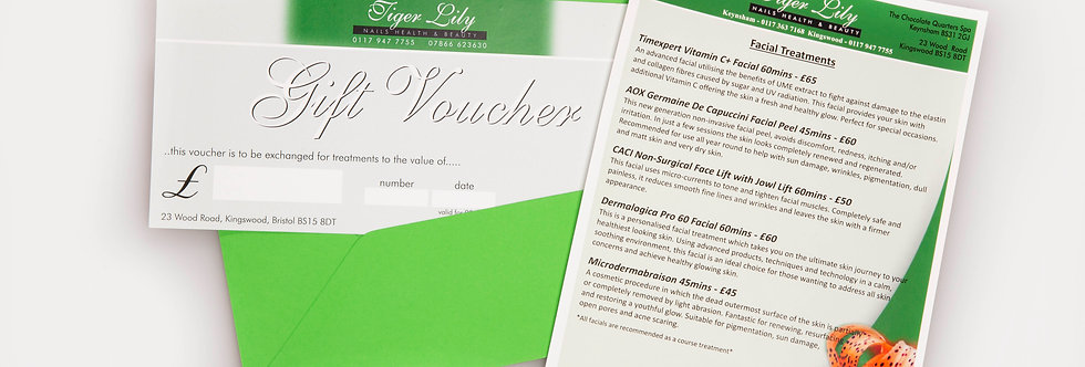 Tiger Lily Gift Voucher