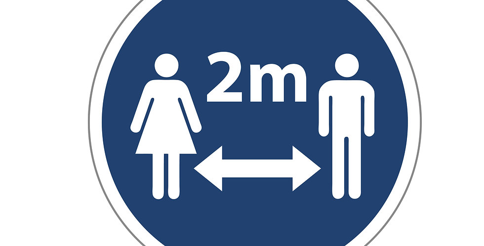 2m Awareness Floor Sign