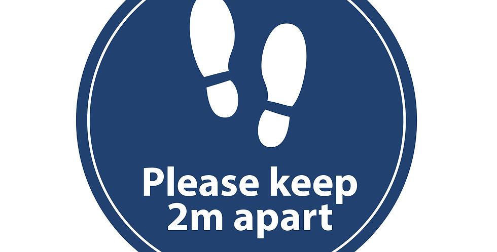 2m Apart Floor Sign