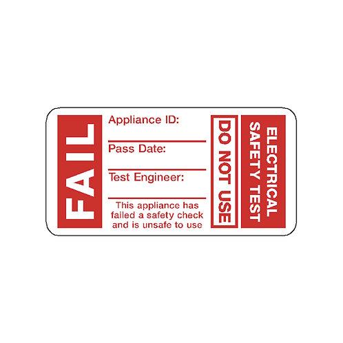 PAT Test FAIL Labels