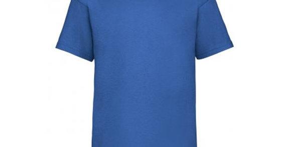 SS6B – Fruit of the Loom Kids Value T-Shirt (Blue)