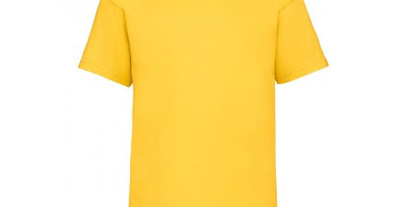 SS6B – Fruit of the Loom Kids Value T-Shirt (Yellow)