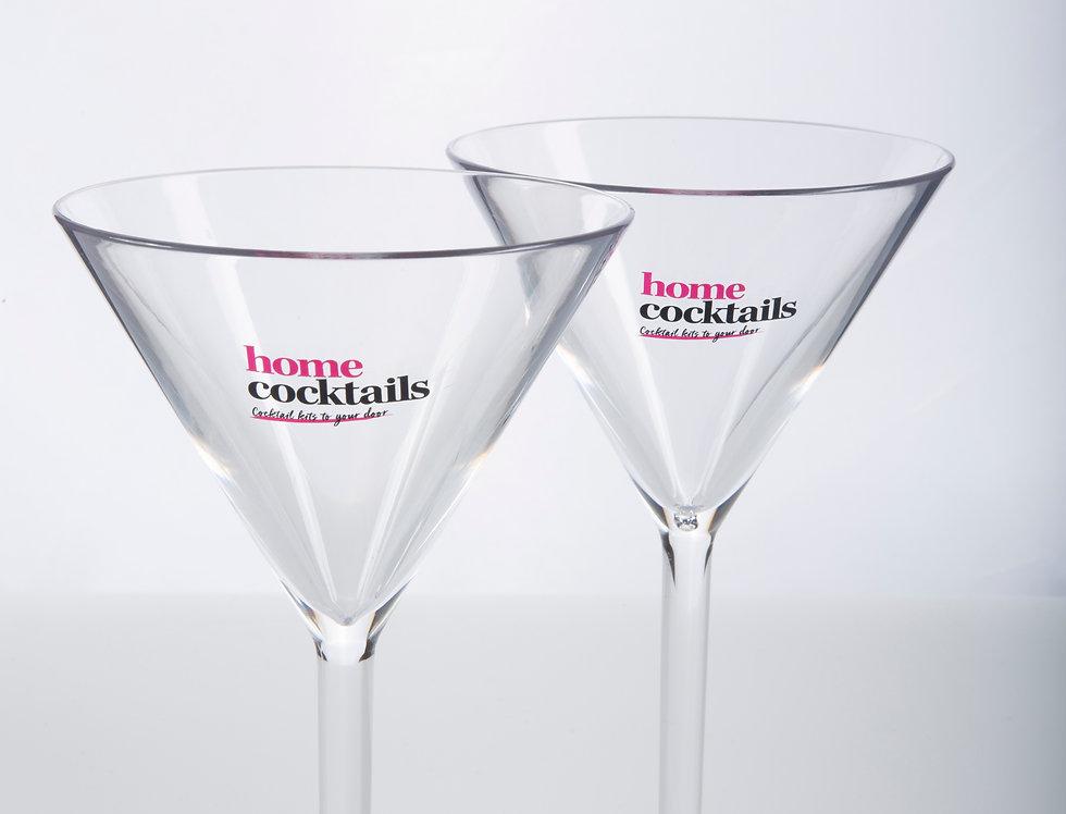 2 Polycarb Martini Glasses