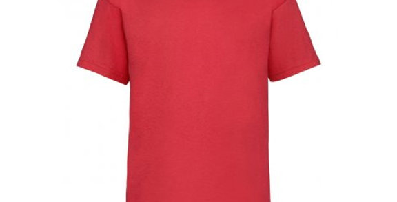 SS6B – Fruit of the Loom Kids Value T-Shirt (Red)