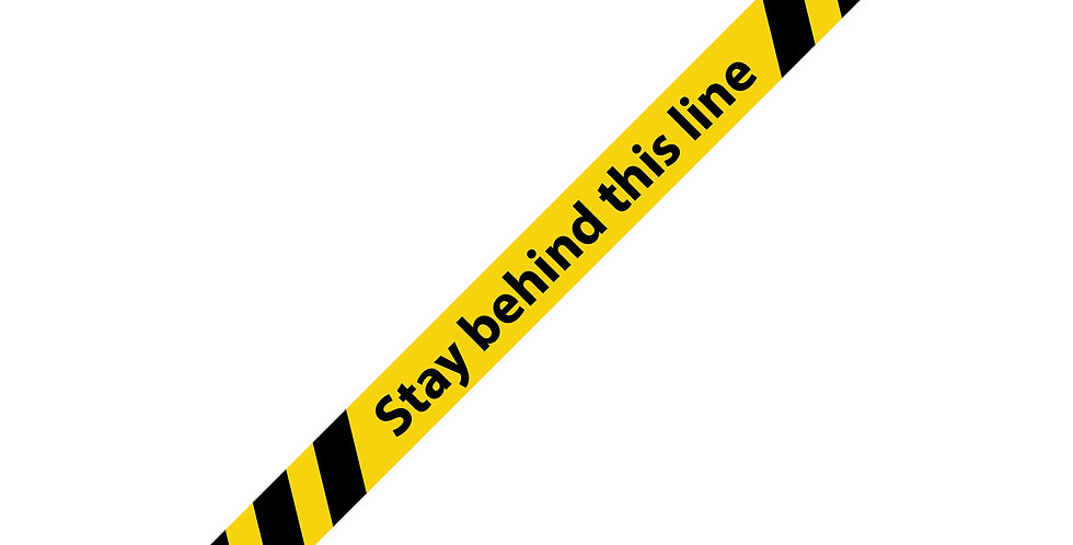 Stay behind line Anti Slip Floor Strips (10 Pack)