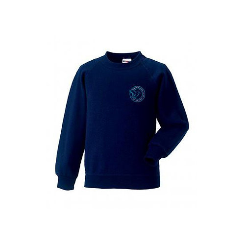 Sports Sweater Navy Embroidered (FF762B)