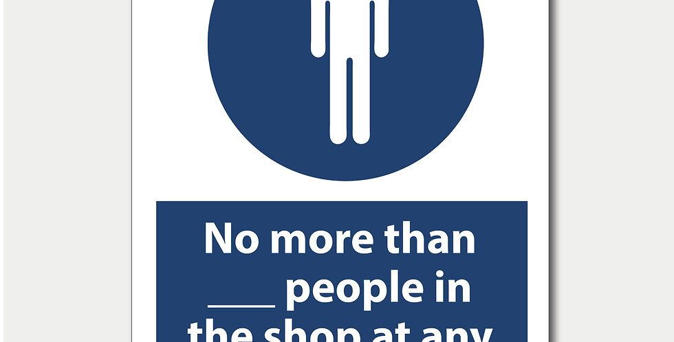 Shop Limit Sign