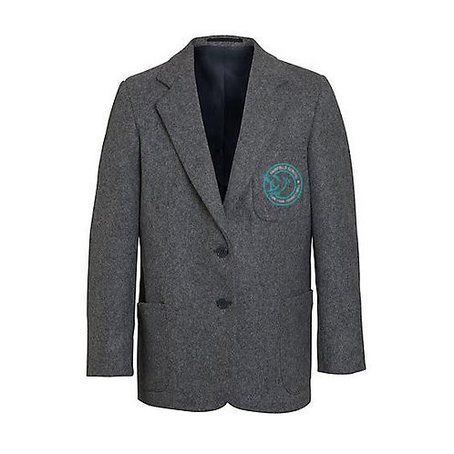 Boys Grey Blazer Embroidered