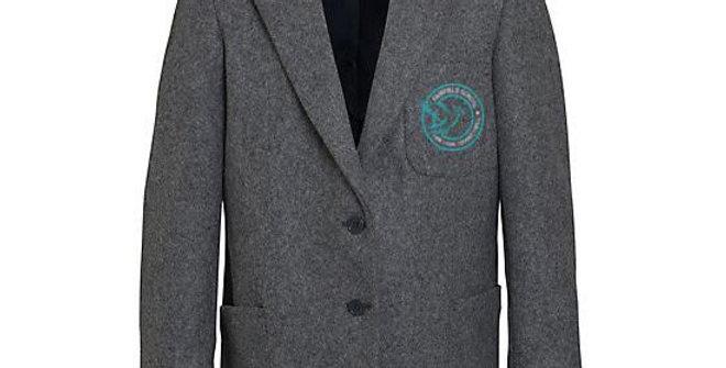 Boys Grey Blazer Embroidered
