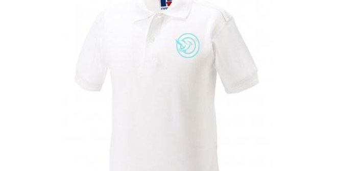 White Embroidered Polo (FF599B)