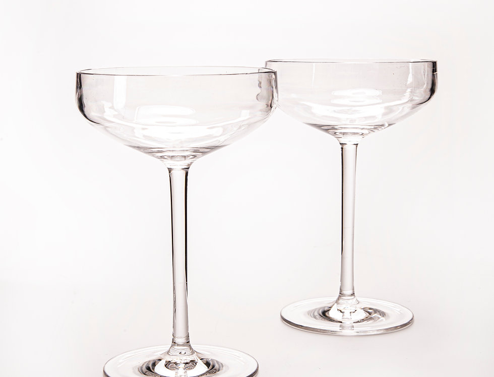 2 Glass Coupe Glasses