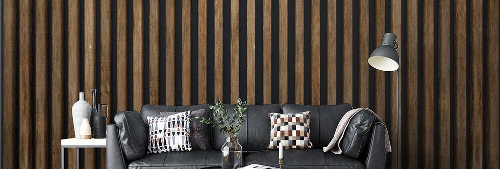 Slatted Oak Wood Wallpaper