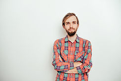 Young Man in Plaid