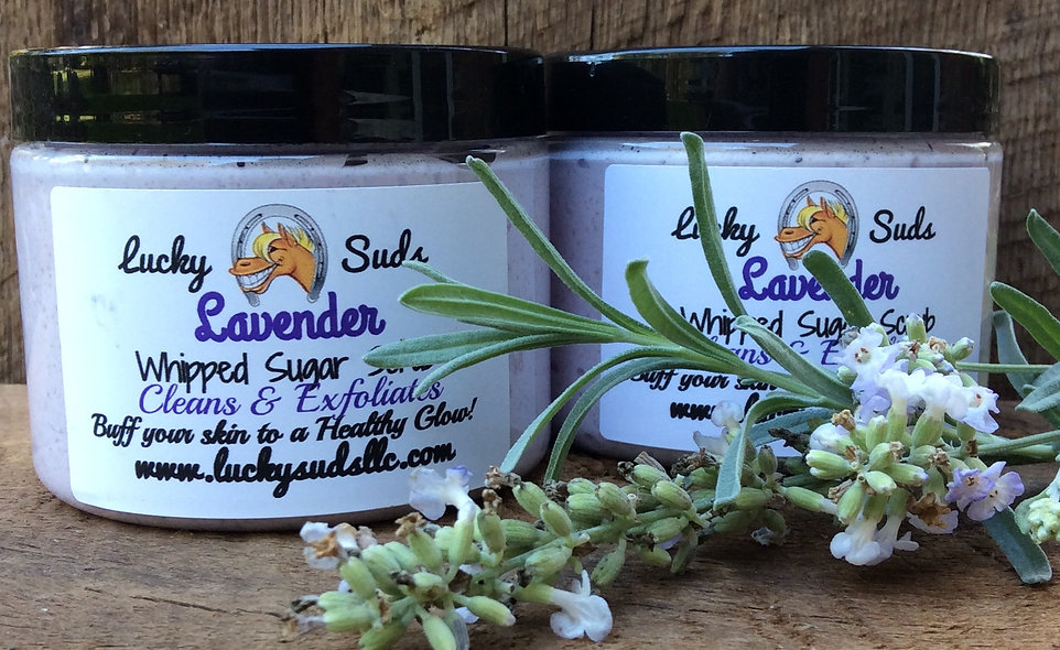 Lucky Suds Lavender Whipped Sugar Scrub