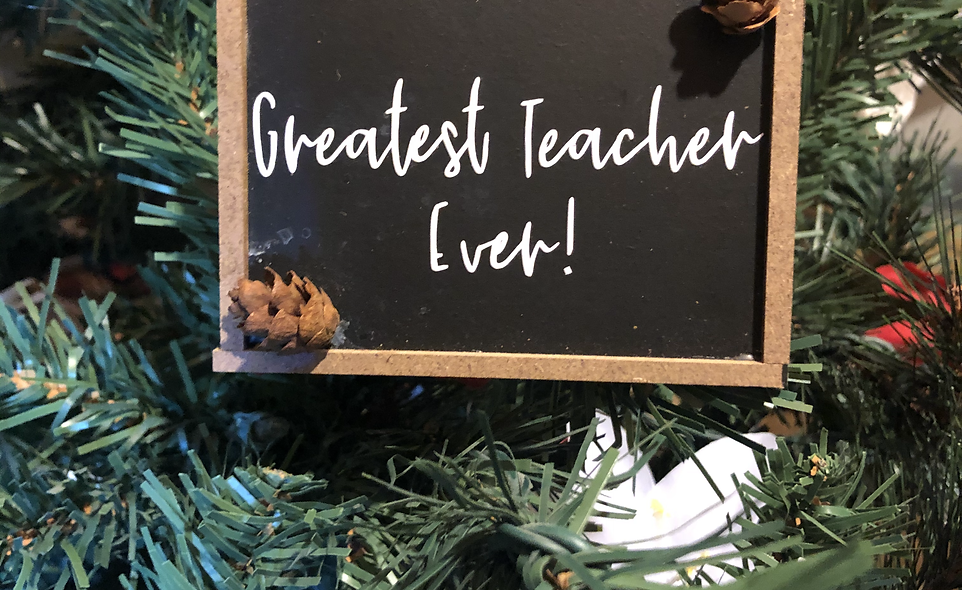 Smidgen Greatest Teacher Ornamen
