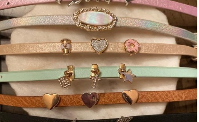 "Clayton Street 9"" Vegan Leather Bracelet with Slide"